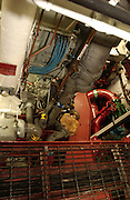 This engine room onboard the Icebreaker Mackinaw Maritime Musem is a regular part of the public tour of the ship in Mackinaw City, Michigan