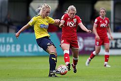 Millie Farrow of Bristol City Women tackles Rosie Lane of Oxford United - Mandatory by-line: Robbie Stephenson/JMP - 25/06/2016 - FOOTBALL - Stoke Gifford Stadium - Bristol, England - Bristol City Women v Oxford United Women - FA Women's Super League 2