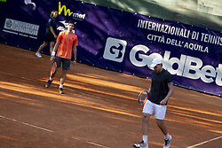 June 18, 2018 - L'Aquila, Italy - Riccardo Balzerani during match between Riccardo Balzerani/Giovanni Fonio (ITA) and Guilherme Clezar (BRA)/Alejandro Gonzalez(COL) during day 3 at the Internazionali di Tennis Citt dell'Aquila (ATP Challenger L'Aquila) in L'Aquila, Italy, on June 18, 2018. (Credit Image: © Manuel Romano/NurPhoto via ZUMA Press)
