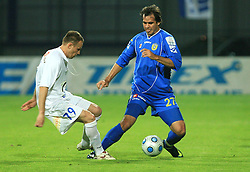 Jalen Pokorn and Diego Coronel at 30th Round of Slovenian First League football match between NK Domzale and NK MIK CM Celje in Sports park Domzale, on April 25, 2009, in Domzale, Slovenia. Celje won 3:0. (Photo by Vid Ponikvar / Sportida)