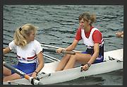 Henley, England,  GBR left, Joanna TOCH and Rachel HIRST/STANHOPE. 1990 Women's Henley Regatta, Henley Reach, River Thames Oxfordshire <br /> <br /> <br /> [Mandatory Credit; Peter Spurrier/Intersport-images] 1990 Henley Women's Regatta, Henley,