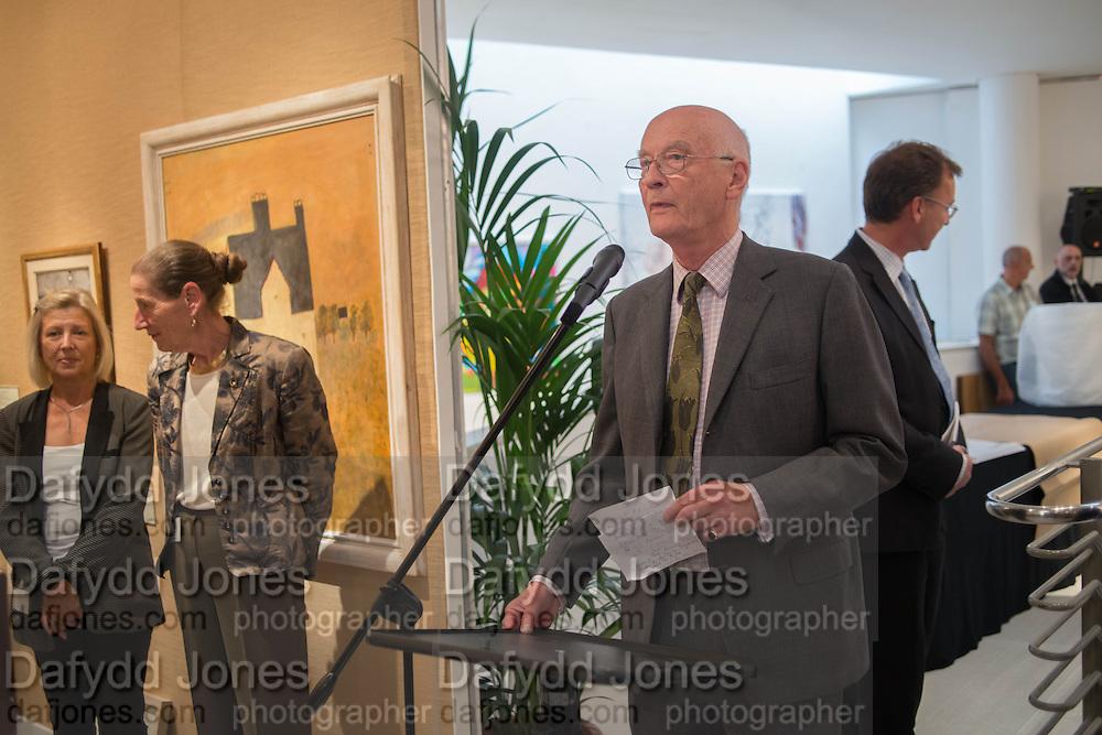 GAY HUTSON; ANGELA WYNN; CHRISTOPHER MALLABY, 20/21 British Art Fair. Celebrating its 25 Anniversary. The Royal College of Art . Kensington Gore. London. 12 September 2012.