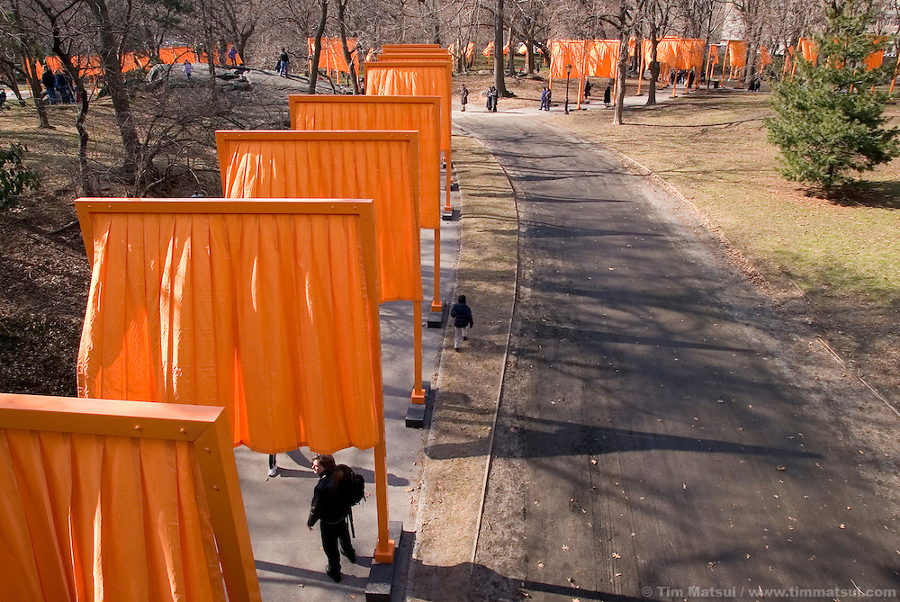 Christo's Gates in Central Park, an art installation on a grand scale.