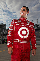 Nascar driver Juan Pablo Montoya poses for a portrait on location at Daytona International Speedway in Daytona Beach, FL on February 7,2012.<br /> (AP Photo/Tom DiPace)