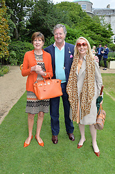 Left to right, the EARL & COUNTESS BALFOUR and JUDITH TAUBMAN at the Cartier hosted Style et Lux at The Goodwood Festival of Speed at Goodwood House, West Sussex on 26th June 2016.