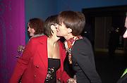 Megan Tilson and Lady McAlpine<br />Lady McAlpine & Vivienne Westwood exhibition. Museum of London. 6 April 2000<br />© Copyright Photograph by Dafydd Jones 66 Stockwell Park Rd. London SW9 0DA Tel 0171 733 0108 www.dafjones.com