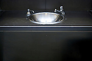 bathroom stainless steel sink with faucet