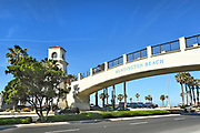 Huntington Beach Pedestrian Bridge to the Beach from the Hyatt Resort