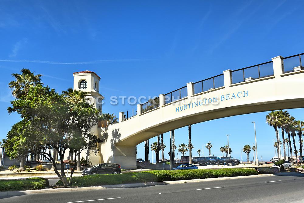 Huntington Beach Pedestrian Bridge to the Beach from the Hyatt Resort