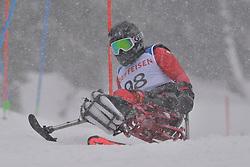 HAN Sang Min LW12-1 KOR at 2018 World Para Alpine Skiing World Cup slalom, Veysonnaz, Switzerland