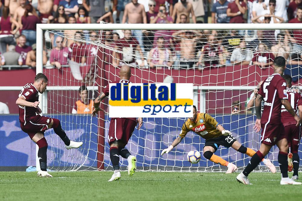 gol Andrea Belotti Goal Celebration <br /> Torino 23-09-2018 Stadio Olimpico Grande Torino Football Calcio Serie A 2018/2019 Torino - Napoli Foto Image Sport / Insidefoto
