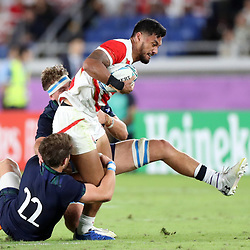 Timothy Lafaele of Japan during the Rugby World Cup Pool A  match between Japan and Scotland, Pool A at the International Stadium Yokohama,Yokohama City Saturday 13th October  2019 (Mandatory Byline Steve Haag Sports Hollywoodbets)