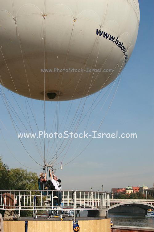 Czech Republic, Prague sightseeing ride in a balloon