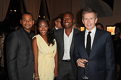 Left to right, Michael Underwood, Angellica Bell, Kevin Adams and Patrick Kielty at a party to celebrate the publication of Inheritance by Tara Palmer-Tomkinson at Asprey, 167 New Bond Street, London on 28th September 2010.