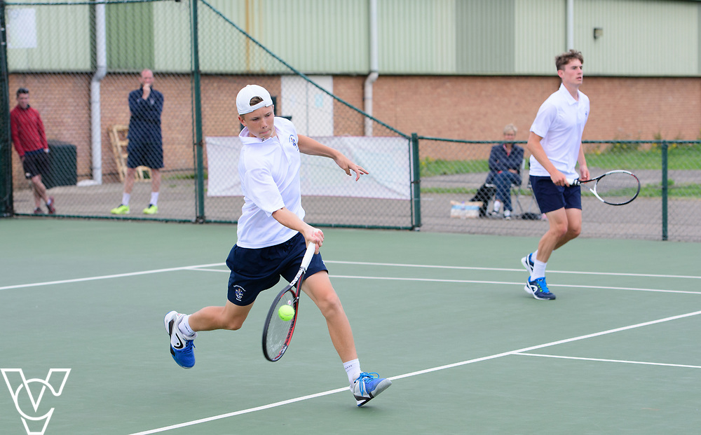 Glanville Cup - Culford School A [1] - Harry Wendelken, left, and Oscar Cutting<br /> <br /> Team Tennis Schools National Championships Finals 2017 held at Nottingham Tennis Centre.  <br /> <br /> Picture: Chris Vaughan Photography for the LTA<br /> Date: July 14, 2017
