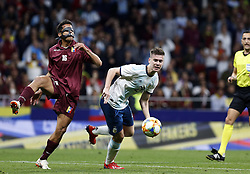 March 22, 2019 - Madrid, Madrid, Spain - Argentina's Juan Foyth and Venezuela's Roberto Jose Rosales are seen in action during the International Friendly match between Argentina and Venezuela at the wanda metropolitano stadium in Madrid. (Credit Image: © Manu Reino/SOPA Images via ZUMA Wire)