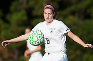 Rice's Molly McCabe (26) plays the ball during the girls soccer game between the Milton Yellowjackets and the Rice Green Knights at Rice Memorial High School on Saturday afternoon October 3, 2015 in South Burlington. (BRIAN JENKINS/ for the FREE PRESS)