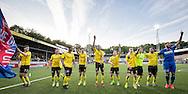 VENLO, VVV Venlo - FC Oss 0-0, voetbal, playoff promotie - degradatie, seizoen 2014-2015, 15-05-2015, Seacon Stadion de Koel, VVV spelers vieren het behalen van de volgende ronde in de playoffs.