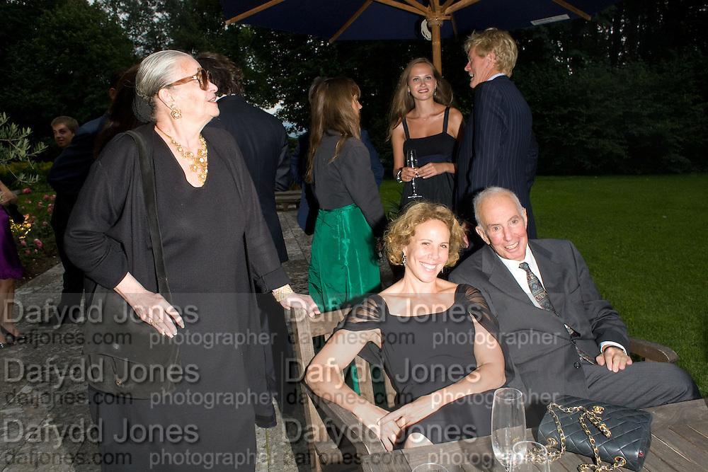 JEANNE KAHN;  MRS. JULIE BROWN; DONALD KAHN, Christie's Gala. Casa Austria.  Amadeus Weekend. Salzburg. 22 August 2008.  *** Local Caption *** -DO NOT ARCHIVE-© Copyright Photograph by Dafydd Jones. 248 Clapham Rd. London SW9 0PZ. Tel 0207 820 0771. www.dafjones.com.
