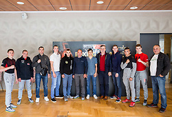 Athletes of Slovenia and Serbia during Official weighting ceremony one day before Dejan Zavec Boxing Gala event in Laško, on April 20, 2017 in Thermana Lasko, Slovenia. Photo by Vid Ponikvar / Sportida