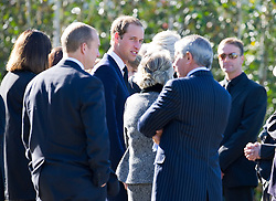 Prince William attends the funeral of his former nanny Olga Powell in Harlow, Essex  Wednesday, 10th October 2012.  Photo by: i-Images