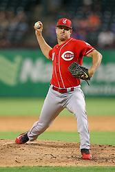 March 26, 2018 - Arlington, TX, U.S. - ARLINGTON, TX - MARCH 26: Cincinnati Reds starting pitcher Tanner Rainey (30) throws during the exhibition game between the Cincinnati Reds and Texas Rangers on March 26, 2018 at Globe Life Park in Arlington, TX. (Photo by Andrew Dieb/Icon Sportswire) (Credit Image: © Andrew Dieb/Icon SMI via ZUMA Press)