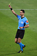 Referee Jonathan Barreiro during the Hyundai A League match. Wellington Phoenix v Melbourne City FC. Westpac Stadium, Wellington, New Zealand. Saturday 26 January 2019. ©Copyright Photo: Chris Symes / www.photosport.nz