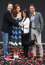 Debra Messing, At 'Will & Grace' Start Of Production Kick Off Event And Ribbon Cutting Ceremony At Universal City Plaza In California on August 02, 2017. 02 Aug 2017 Pictured: Sean Hayes, Debra Messing, Megan Mullally, Eric McCormack. Photo credit: FS/MPI/Capital Pictures / MEGA TheMegaAgency.com +1 888 505 6342