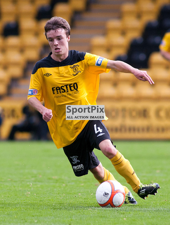 Man of the Match Stefan Scougall on the ball, Livingston v Falkirk, SFL Division 1