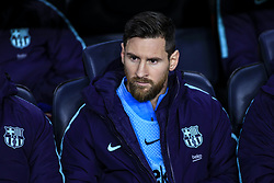 February 6, 2019 - Barcelona, Spain - 10 Leo Messi of FC Barcelona during the semi-final first leg of Spanish King Cup / Copa del Rey football match between FC Barcelona and Real Madrid on 04 of February of 2019 at Camp Nou stadium in Barcelona, Spain  (Credit Image: © Xavier Bonilla/NurPhoto via ZUMA Press)