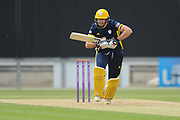James Fuller of Hampshire batting during the Royal London One Day Cup match between Hampshire County Cricket Club and Middlesex County Cricket Club at the Ageas Bowl, Southampton, United Kingdom on 23 April 2019.