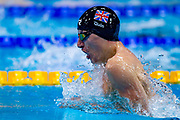 Scott Quin of Great Britain on his way to winning Silver in the Men's 100 m Breaststroke SB14 during the World Para Swimming Championships 2019 Day 3 held at London Aquatics Centre, London, United Kingdom on 11 September 2019.