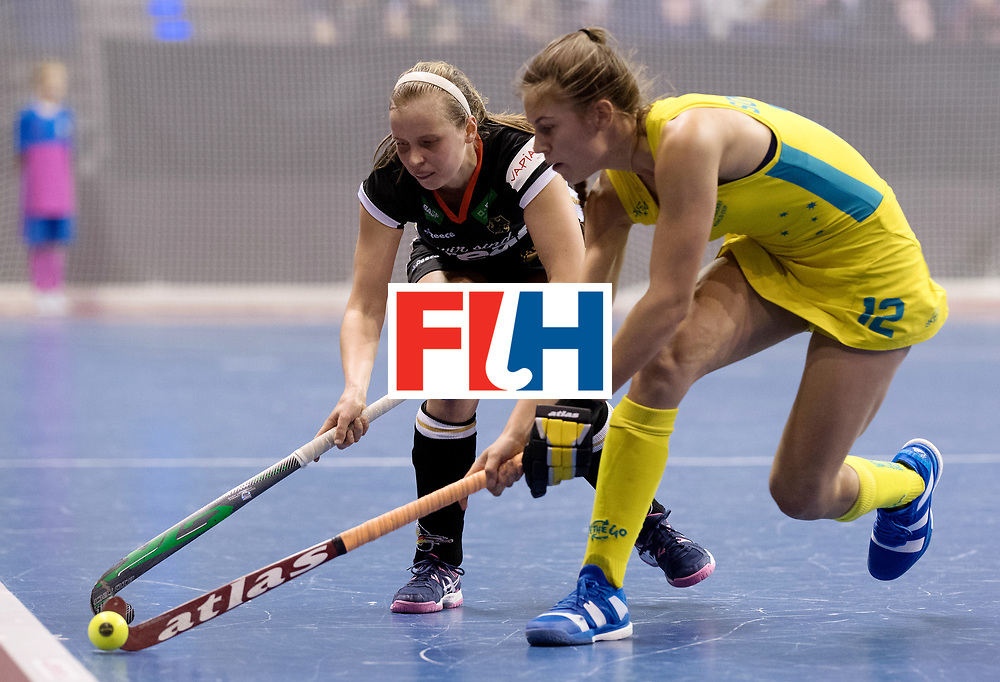 BERLIN - Indoor Hockey World Cup<br /> Women: Germany  - Australia<br /> foto: Viktoria Huse.<br /> WORLDSPORTPICS COPYRIGHT FRANK UIJLENBROEK