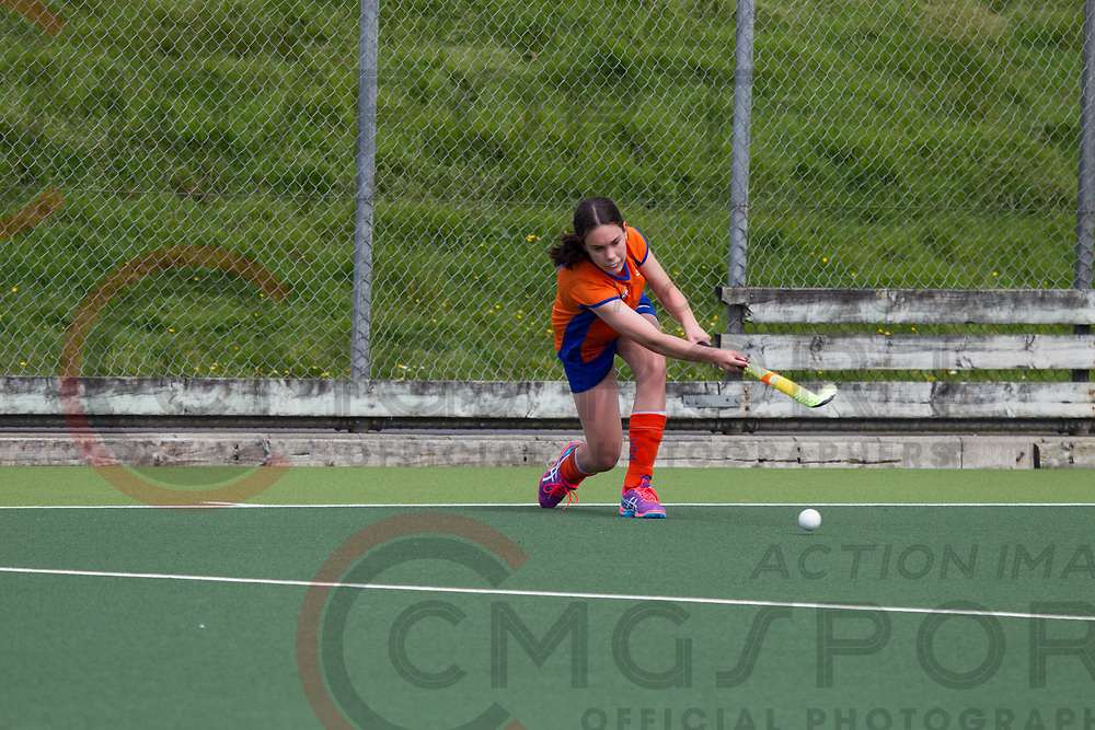 AUCKLAND V TAURANGA<br /> U15 PREMIER GIRLS HOCKEY<br /> NORTH HARBOUR STADIUM<br /> Kevin Clarke CMGSPORT<br /> &copy;cmgsport2017