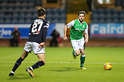 Lewis Stevenson (#16) of Hibernian on the ball during the Ladbrokes Scottish Premiership match between Dundee and Hibernian at Dens Park, Dundee, Scotland on 24 January 2018. Photo by Craig Doyle.