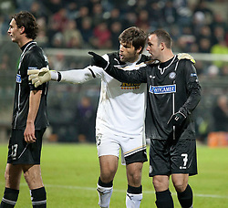 14.12.2011, UPC Arena, Graz, AUT, UEFA Europa League , Sturm Graz vs AEK Athen FC, im Bild Dimitris Konstantopoulos (AEK Athen FC, Goalkeeper, #23) und Mario Haas (SK Puntigamer Sturm Graz, #7) // during UEFA Europa League football game between Sturm Graz and AEK Athens FC at UPC Arena in Graz, Austria on 14/12/2011. EXPA Pictures © 2011, PhotoCredit: EXPA/ E. Scheriau