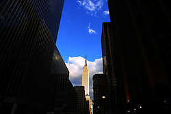 The Empire State Building in a bright New York afternoon on the 22nd, November 2001.