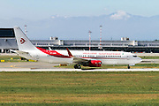 Air Algerie Boeing 737 Next Gen, at Malpensa airport, Milan, Italy