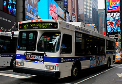 USA NEW YORK 6JUN10 - Electric hybrid bus using clean air technology in midtown Manhattan, New York...jre/Photo by Jiri Rezac..© Jiri Rezac 2010