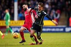 Tom Nichols of Bristol Rovers takes on Erhun Oztumer of Walsall - Mandatory by-line: Robbie Stephenson/JMP - 26/12/2017 - FOOTBALL - Banks's Stadium - Walsall, England - Walsall v Bristol Rovers - Sky Bet League One