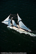 Eleonora racing in the Museum of Yachting Classic Yacht Regatta.