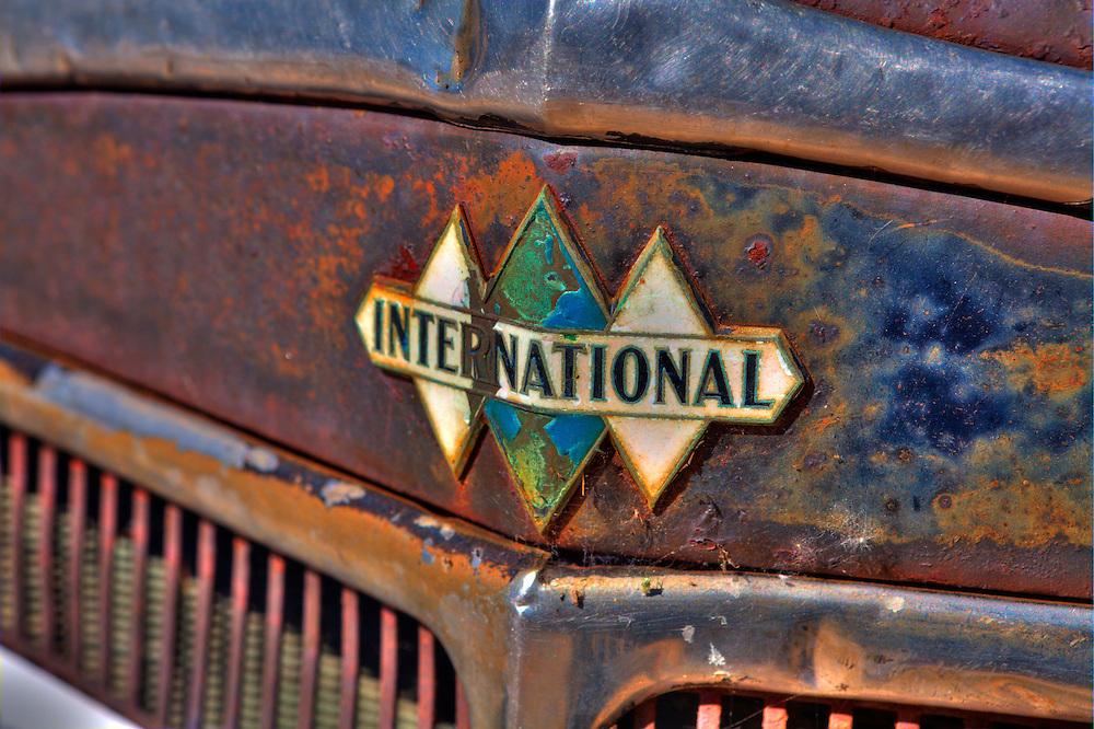 Vintage International Truck Triple Diamond Emblem - Motor Transport Museum - Campo, CA