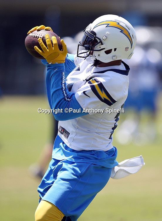 San Diego Chargers wide receiver Keenan Allen (13) catches a pass during the San Diego Chargers Spring 2015 NFL minicamp practice on Wednesday, June 17, 2015 in San Diego. (©Paul Anthony Spinelli)