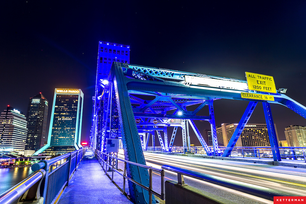 The Main Street Bridge and Jacksonville Skyline
