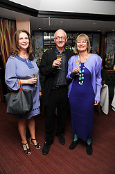 Left to right, chef ANGELA HARTNETT, wine critic JANCIS ROBINSON and NICK LANDER at a party to celebrate The Waterside Inn's 25 years as a 3 star Michelin restaurant held at The Waterside Inn, Bray, Berkshire on 18th May 2010.