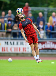 ROTTACH-EGERN, GERMANY - Friday, July 28, 2017: Liverpool's Adam Lallana during a training session at FC Rottach-Egern on day three of the preseason training camp in Germany. (Pic by David Rawcliffe/Propaganda)