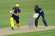Rilee Rossouw of Hampshire batting during the Royal London One Day Cup match between Hampshire County Cricket Club and Middlesex County Cricket Club at the Ageas Bowl, Southampton, United Kingdom on 23 April 2019.