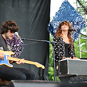 Beach House, Victoria Legrand and Alex Scally, perform during Day 3 of the Pitchfork Music Festival in Chicago, IL.