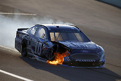 November 19, 2017 - Homestead, Florida, United States of America - November 19, 2017 - Homestead, Florida, USA: The car of Danica Patrick (10) catches on fire during the Ford EcoBoost 400 at Homestead-Miami Speedway in Homestead, Florida. (Credit Image: © Justin R. Noe Asp Inc/ASP via ZUMA Wire)