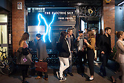 The Electric Sky. Work by Paul Fryer. Pertwee, Anderson and Gold and Adam Waymouth. Bateman St. London. 22 March 2012.